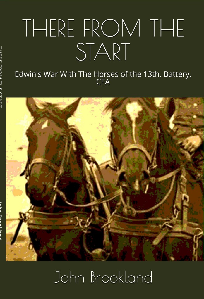 There from the Start Book, War Horses, Great War, book