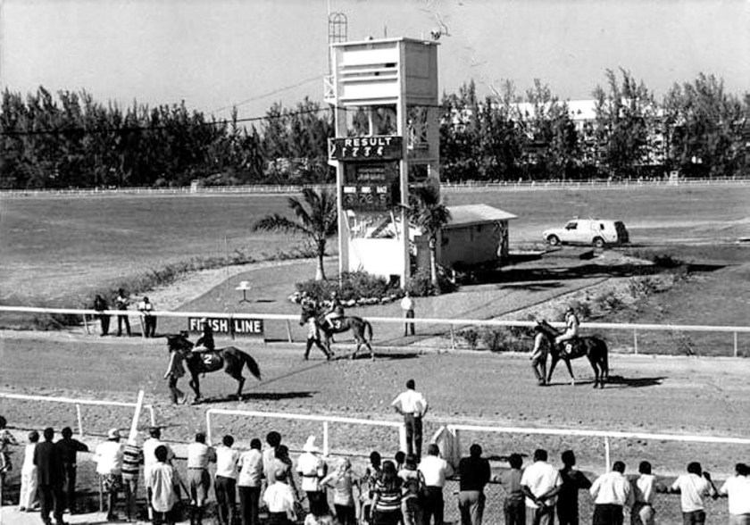 Hobby Horse Hall Racetrack Nassau Bahamas 1950