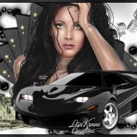 Розы, девушка, авто анимационная картинки гифки Автомобили ...