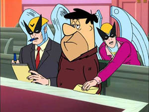 Harvey birdman - Harvey Defends Don Fred Flintstone