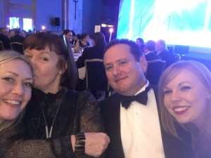 Mary, Nik, Pauline and Samantha feeling very happy at the RTS awards