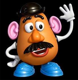 character sundays mr potato head in toy story the animation