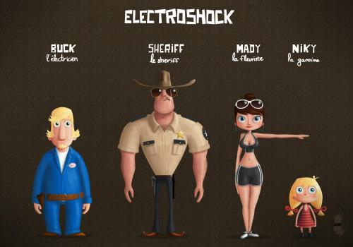 Electroshock movie characters