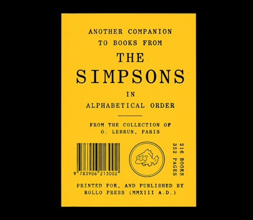 Books from the Simpsons