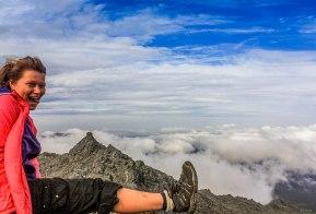 На вершине Серебрянского камня