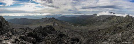Дунитовая дорога, панорама с Серебрянского камня
