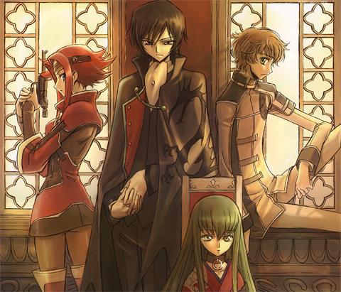 Karen, Lelouch, Susaku, C.C.
