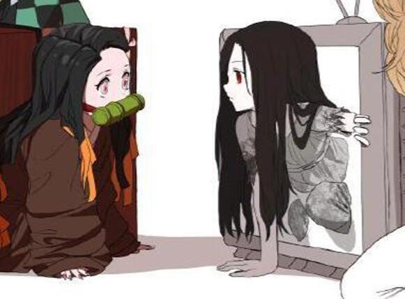 禰豆子和貞子同時出現,看到貞子的顏值,炭治郎的臉色都變了
