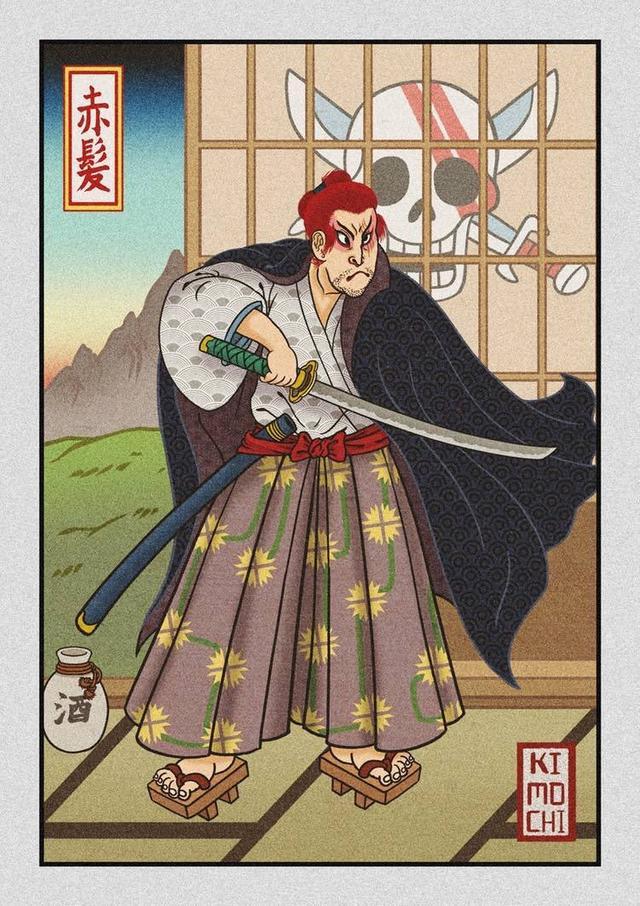 海賊王壁紙:當四皇遇見水墨風,邂逅暗黑童話,哪個風格更好看?