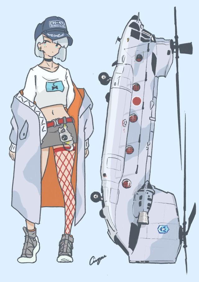 直升機也能變成美少女?日本畫師設計的很棒,不愧是軍事迷