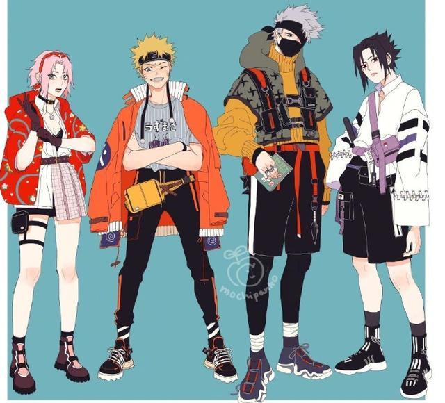 當火影忍者變成時尚潮人,砂忍三人組超有型,但還是帥不過卡卡西