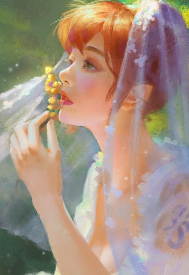 海賊王唯美油畫風,山治竟比索隆還帥?娜美穿婚紗惹人愛