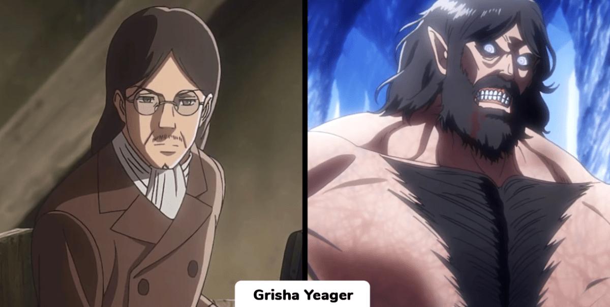 進擊的巨人:18位巨人化角色變身前後對比,誰能把顏值穩住?
