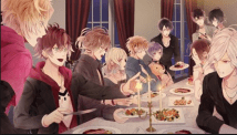 Diabolik lovers brothers - having dinner and including Yui