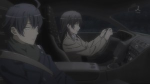 平塚先生とドライブの八幡の図