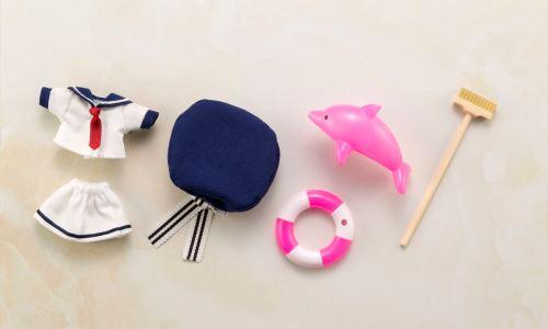 「キューポッシュえくすとら」に新シリーズ!【おしごともーど】登場!第一弾は「水兵さん」!~シェルピンク~ではピンクを基調としたイルカやうきわがセットに!