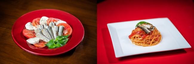 『オイルシャアディン』シャア専用レシピ  カプレーゼ/トマトソースパスタ