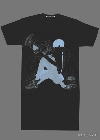 プリントロングワンピースTシャツ
