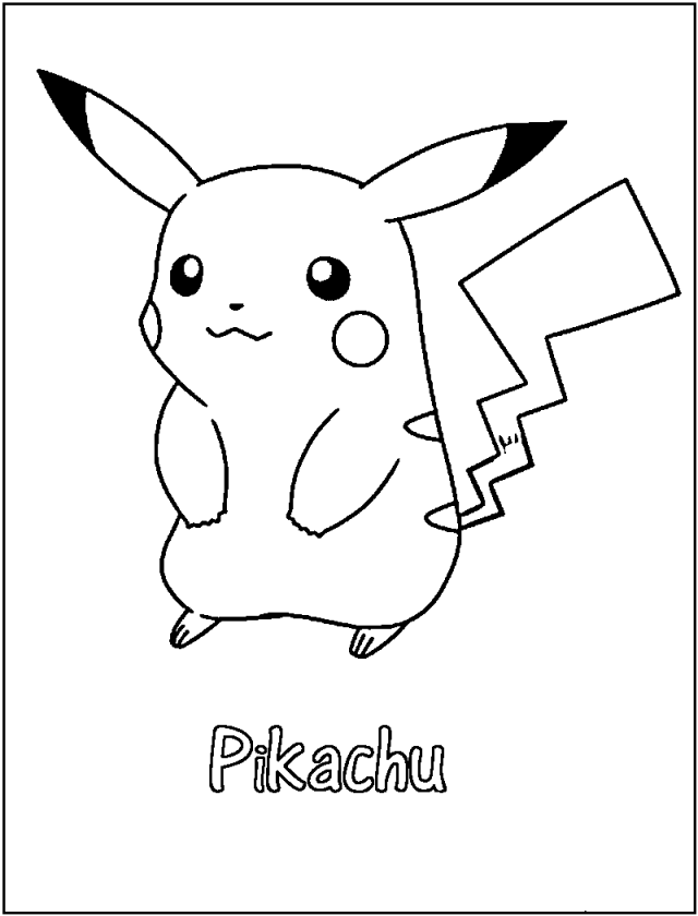 Printable Pikachu Coloring Pages - Anime Coloring Pages