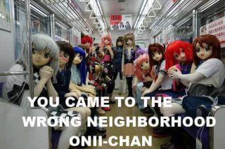 wrong neighborhood anime statues
