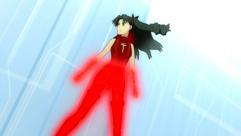 Fate_EXTRA Rin deadface