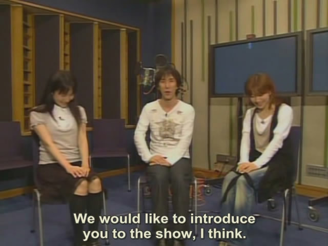 Left to right: Kotonoha, Makoto, and Sekai