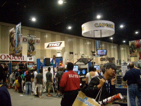 The exhibit hall in a less busy section. I realize now that no one calls it the