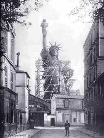 Liberty under construction