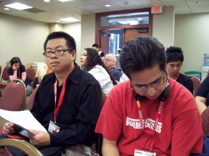 Mike and Benu waiting oh the waiting