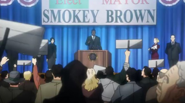 Smokey running for office, contributing to Civil Rights Movement.