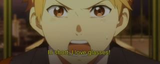 Translated: Ikihito likes girls who wear glasses ala Mirai.