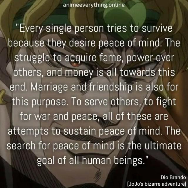 Dio Brando quote