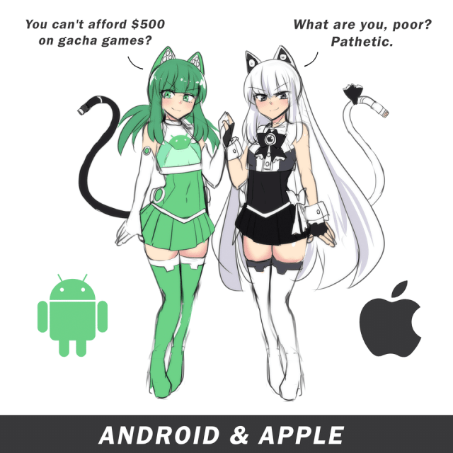 Moemorphism - apple chan and android chan