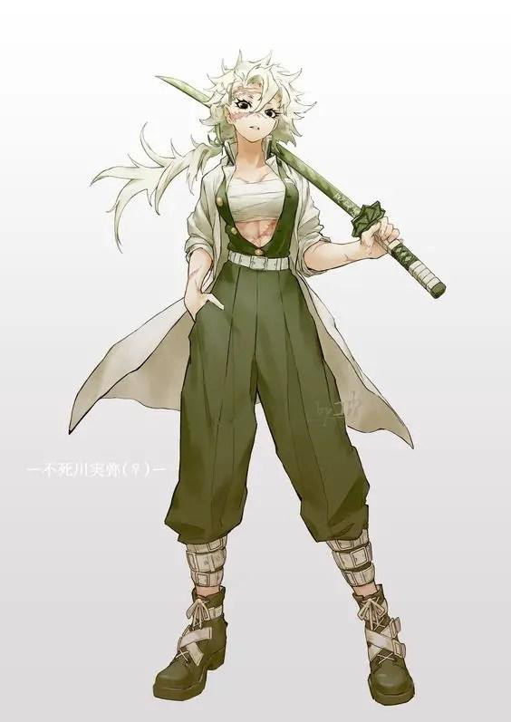 Wind Hashira as a girl