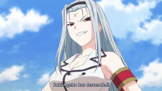 cross scar anime girl