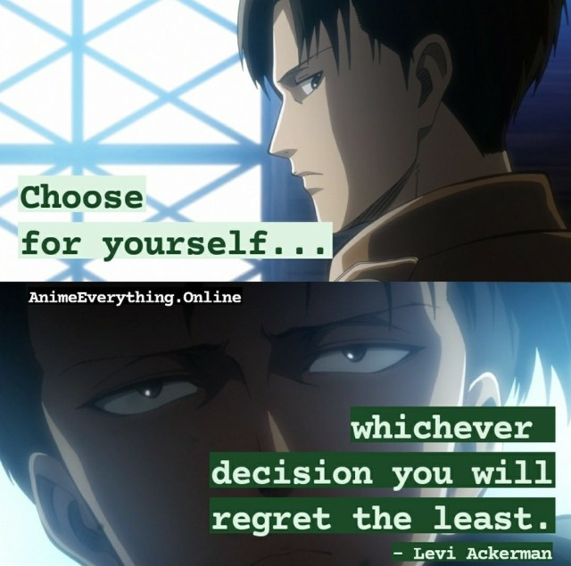 Levi Ackerman Quotes from Attack on titan