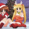 Lyrical Nanoha og Fate i juletøj