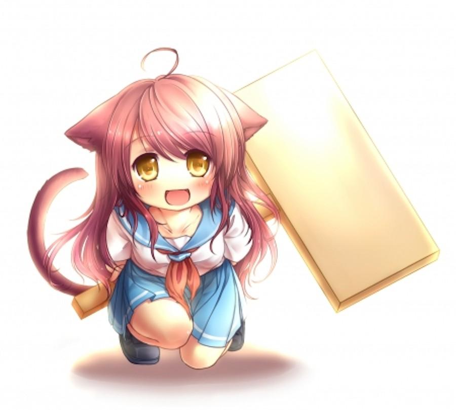Catgirl med hammer
