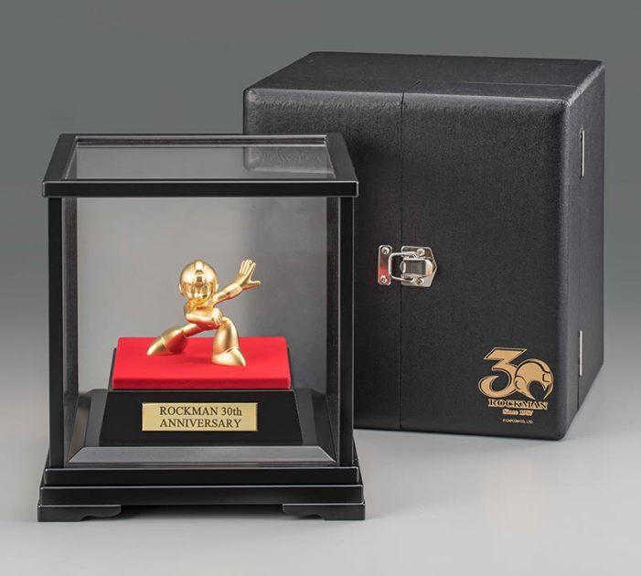 MegaMan statue/figur af massivt guld