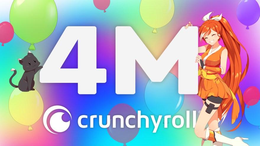 Crunchyroll overgår 4 millioner abonnenter