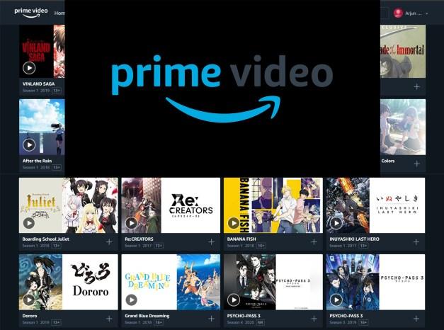 Top Anime on Amazon Prime Video India