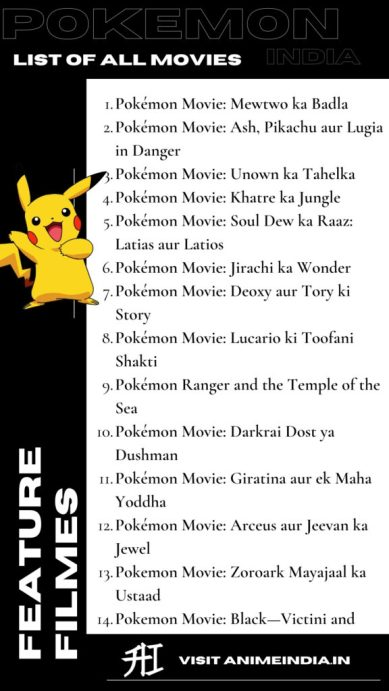 List of Pokemon Movies Released in India