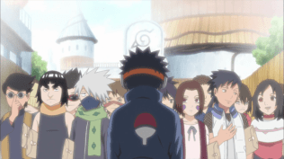 Obito with all his old classmates