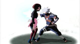 Rin dies by Kakashi's