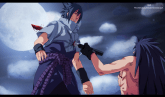 Sasuke stabbed by his own Sword