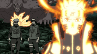 Naruto and his team