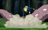Naruto attacks on Bee's tentacles