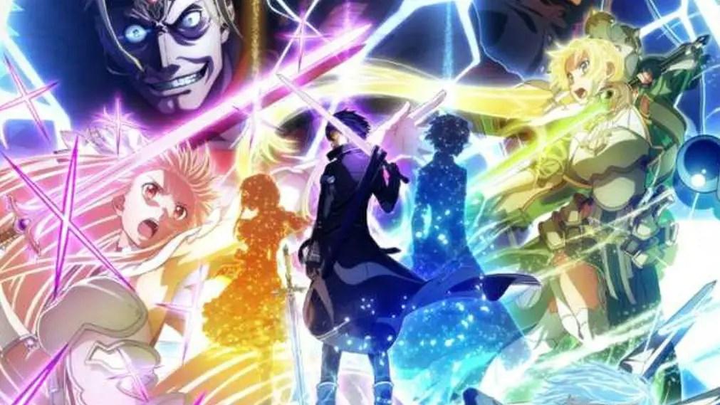 Sword Art Online: Alicization War of Underworld Part 2 Kirito, Asuna, Sinon, Alice, Vector