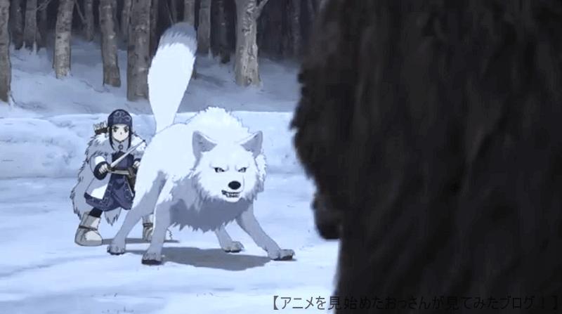 ゴールデンカムイ はオオカミや熊のCGがとても良い! 【面白い!】「ゴールデンカムイ」をアニメを見始めたおっさんが見てみた!【評価・レビュー・感想★★★★☆】 #ゴールデンカムイ