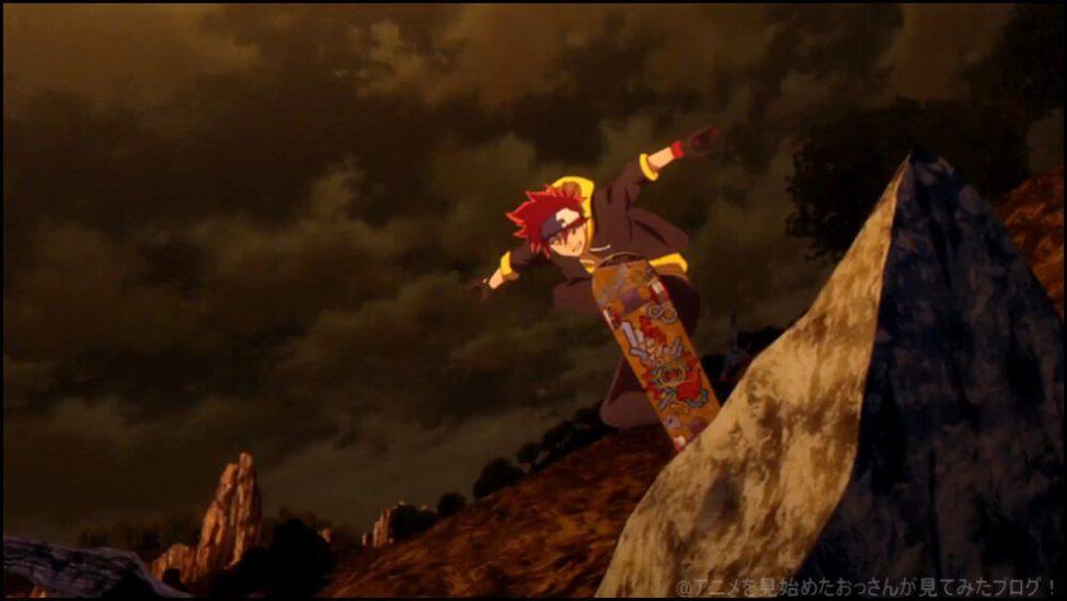 レキ。アニメーション制作の ボンズ さん素晴らしい SK∞ エスケーエイト アニメ はスケボーのアニメーションがカッコイイ!